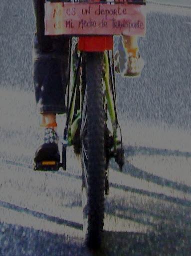 bicicleta: no es deporte es mi medio de transporte