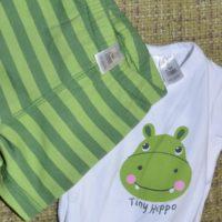 conjunto bebé verde y ecologico