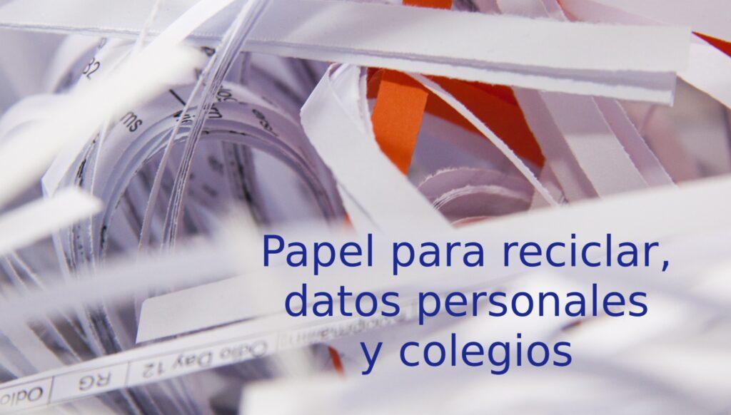 papel datos colegios