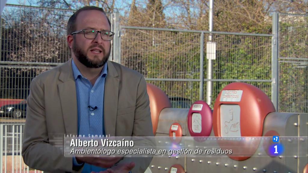 Alberto Vizcaíno López, experto en gestión de residuos, en Informe Semanal