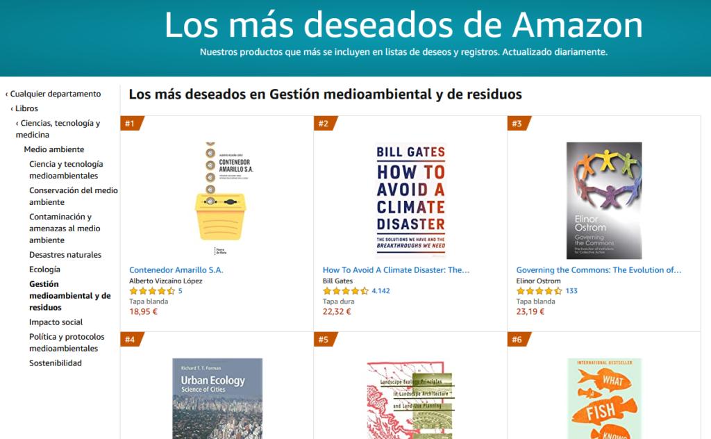Los libros más deseados de gestión de residuos en Amazon