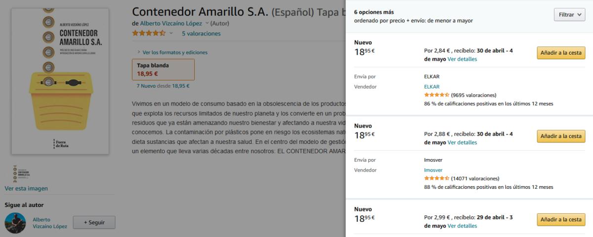 Opciones de compra del libro Contenedor Amarillo S.A.
